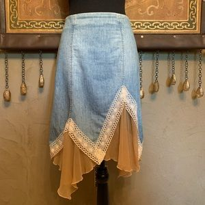 Asymmetrical skirt by Bebe
